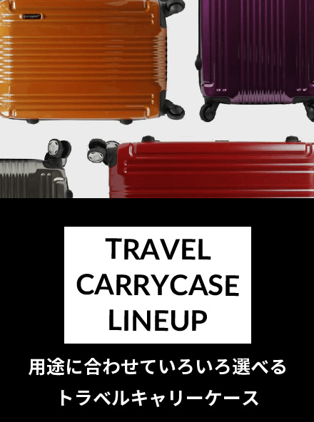 TRAVEL CARRYCASE LINEUP