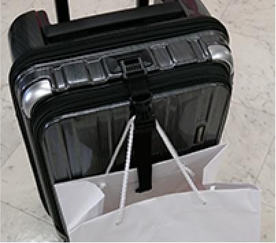 手荷物をかけることができる