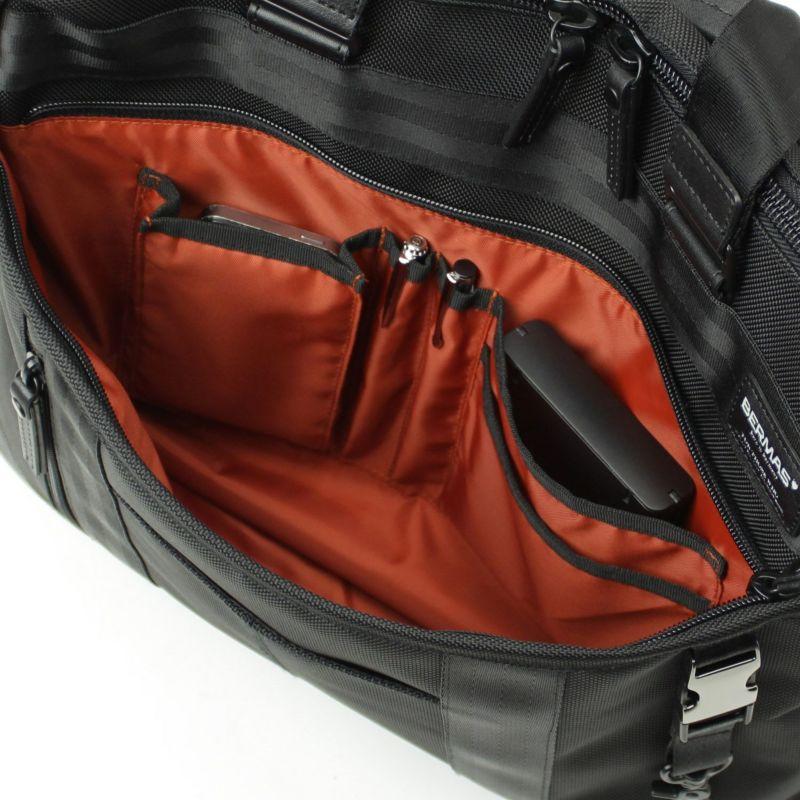 バウアー3 横型トート 小物の整理に便利なオーガナイザー付きフロントポケット