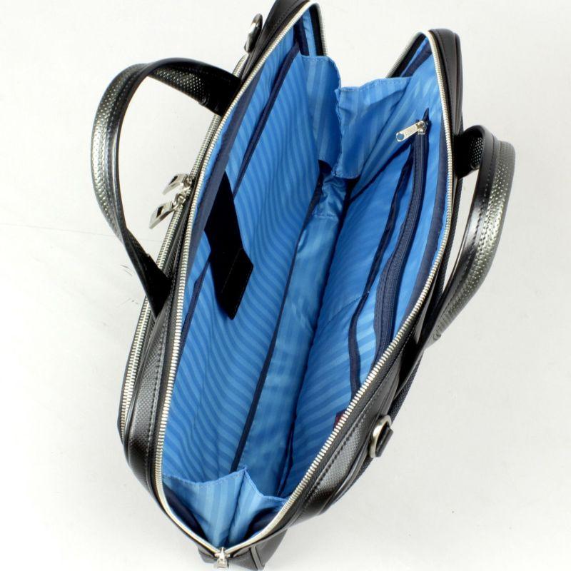 豊岡鞄 MIJ細マチブリーフ ノートパソコンの収納に便利なクッションポケット