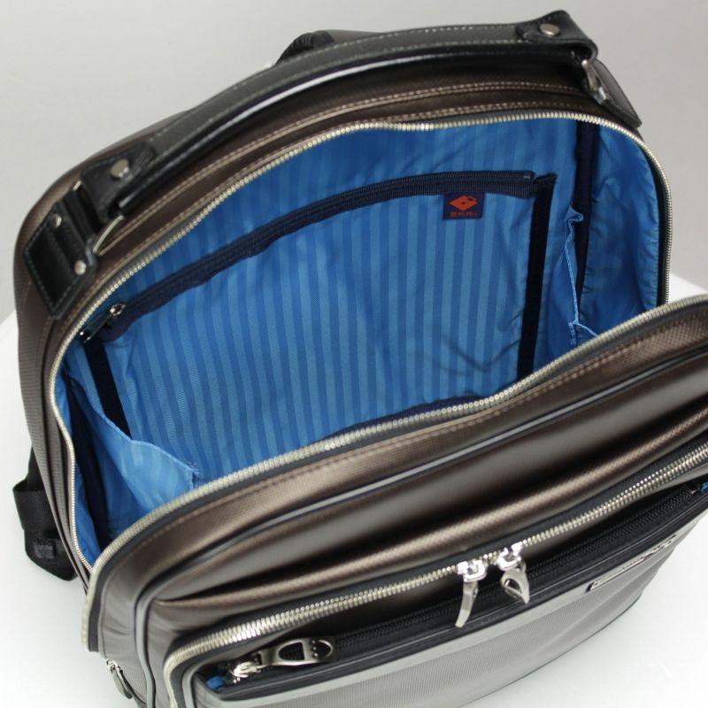 豊岡鞄 MIJリュック 整頓しやすいメインルーム