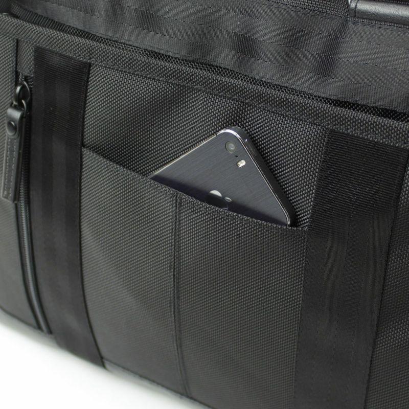 バウアー3 横型トート 小物収納に便利なオープンポケット