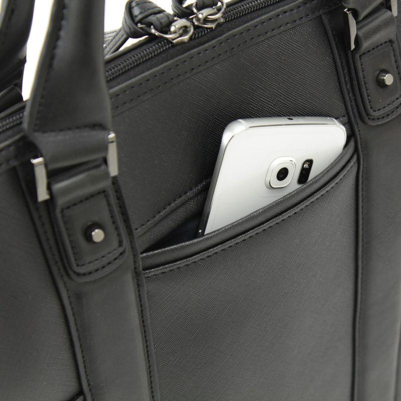 ミルフォードサウンド肩掛けトート スマートフォンの収納に最適なモバイルポケット