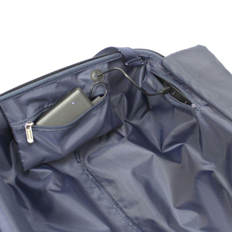 モバイルバッテリー収納に最適なファスナーポケット