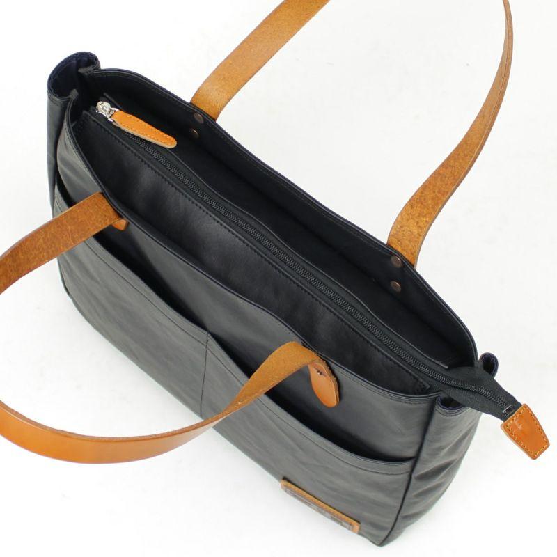 コミュート横型トート プライバシーが守れる天ファスナー付きバッグ