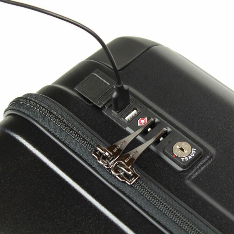 ヘリテージ機内持込対応サイズファスナーキャリー USBポート