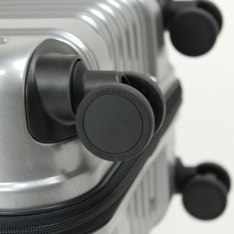 ヘリテージファスナーキャリー 日乃本錠前製のストッパー付き静音キャスター