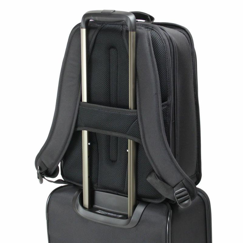 ディグリー ビジネスリュック 出張などのスーツケースと併用する場合にも便利なキャリーオン機能