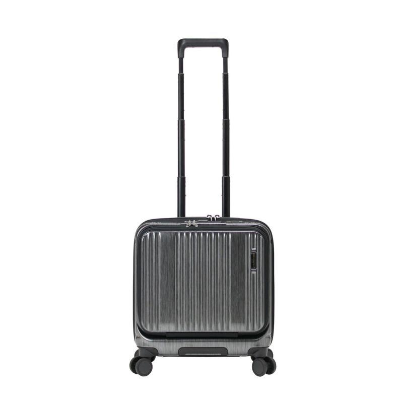ストッパー付き、機内持ち込み対応の小さいスーツケース
