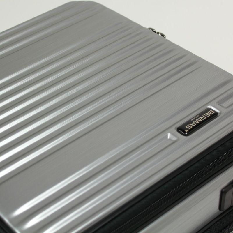 強度を高める伝統のリブデザインのLCC機内持ち込みできるフロントオープンキャリー