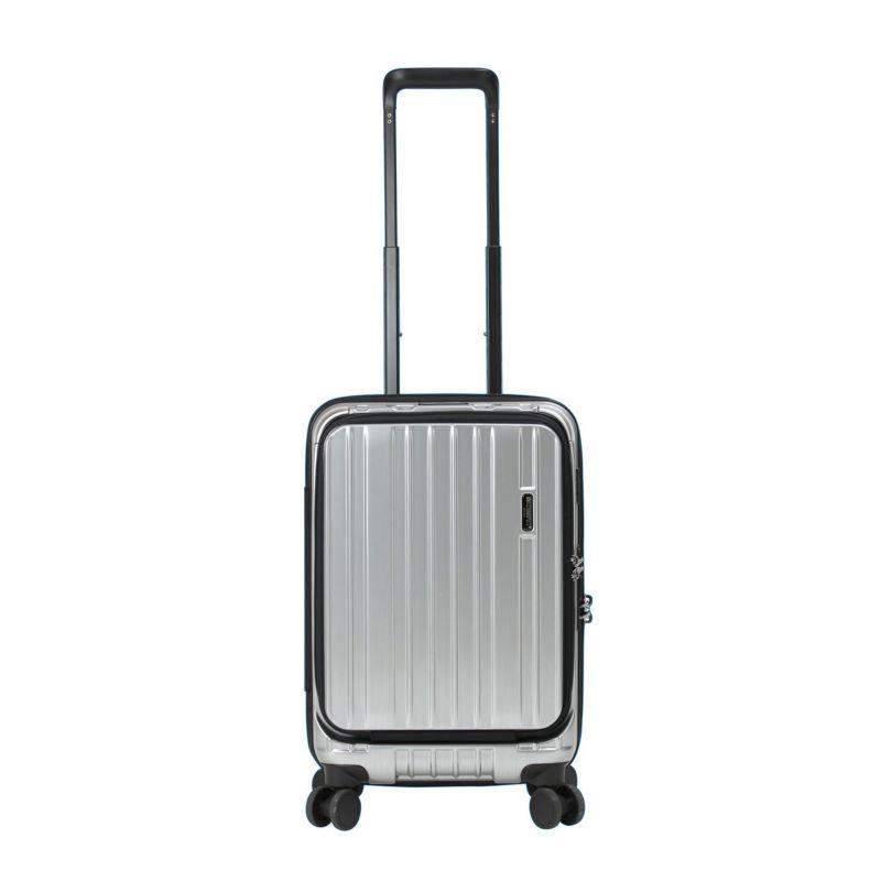 バーマスショップ限定販売、ドリンクホルダー搭載の小さいスーツケース
