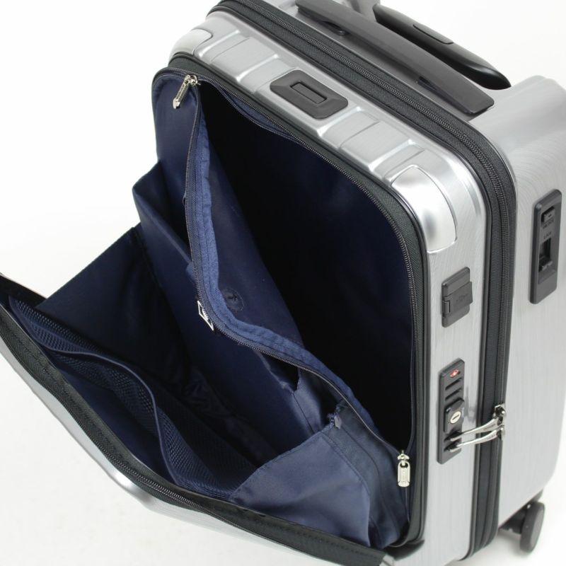 フロントポケットからファスナーを開けるとメインルームにアクセス可能