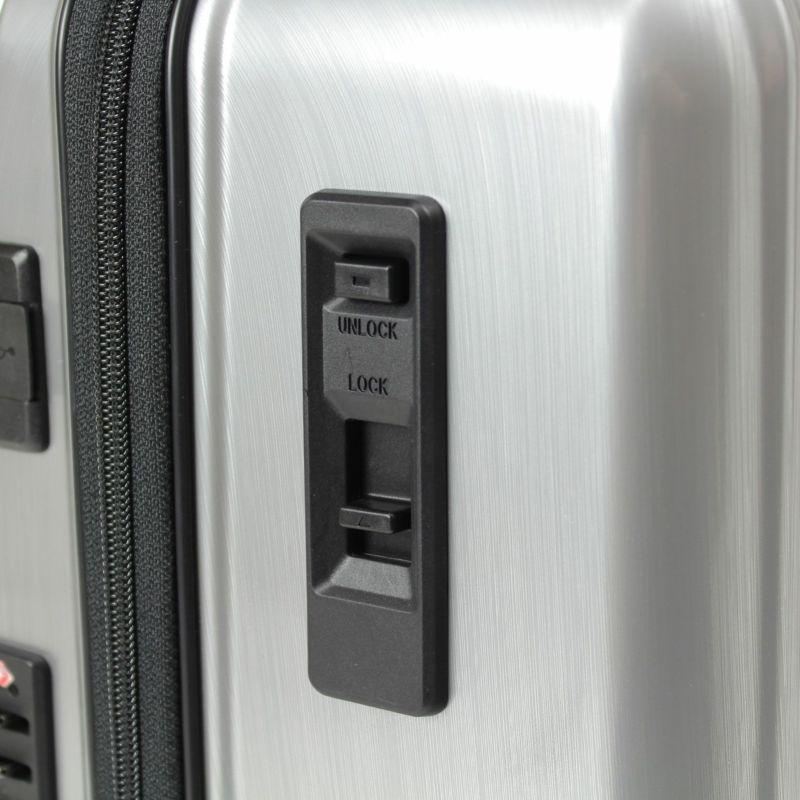 スライドスイッチでロック、プッシュボタンでアンロックできる日乃本製ストッパー付き静音キャスター
