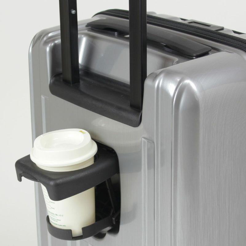 背面にビルトインのドリンクホルダー付属で飲みかけのカップも持たずに移動できます